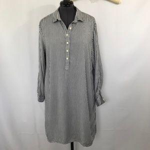 Old Navy - Navy Blue & White Pin Stripe Dress